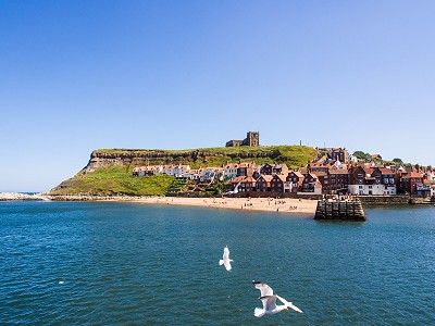 Whitby Harbour and St Mary's Church